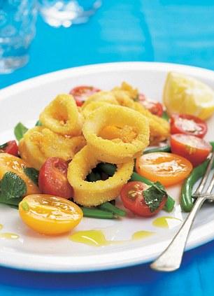 Những người thích calamari phương tây không có gì phải lo lắng, nội tạng của nó thường được loại bỏ trước khi ăn.
